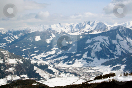Beautiful Swiss Alps Scenery stock photo, Beautiful scenery of Swiss Alps mountains. by Martin Crowdy