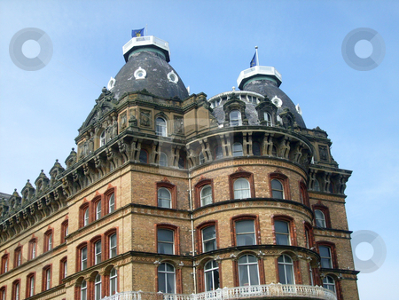 Gothic Architecture stock photo, Gothic architrecture of Grand hotel building, Scarborough, England. by Martin Crowdy