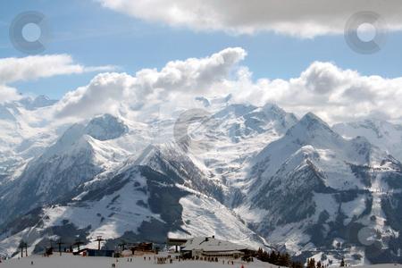 Beautiful Swiss Alps Scenery stock photo, Beautiful scenery of Swiss Alps mountains. by Martin Crowdy
