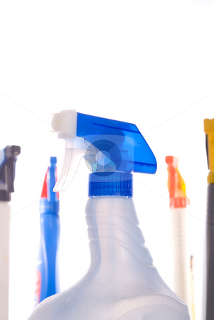 Excessive cleaning products stock photo, An array of too many cleaning products by Vince Clements