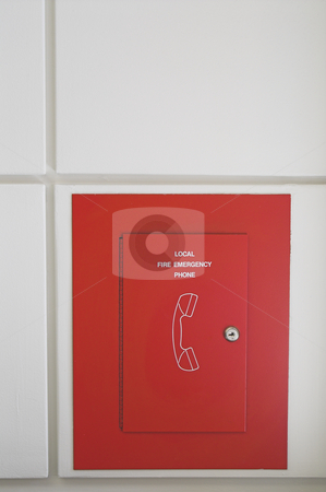 Fire Emergency Phone stock photo, A fixed wall mounted fire emergeny phone. by Robert Byron
