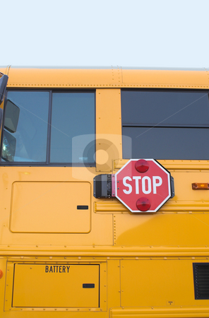 School Bus stock photo, The side of a yellow public school bus. by Robert Byron