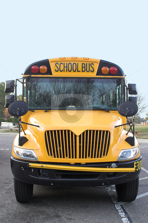 School Bus stock photo, A view of the front of a school bus. by Robert Byron