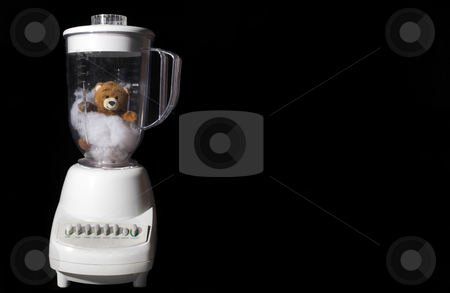 Teddy Bear in a Blender stock photo, A tender and delicious gourmet Teddy Bear in a blender. by Robert Byron