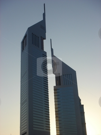 Emirates Towers stock photo, Emirates Towers in Dubai, United Arab Emirates by Ritu Jethani