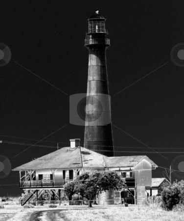Black Lighthouse stock photo, Abandoned Black Lighthouse by Marburg