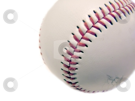 Baseball stock photo, Baseball isolated on a white background by Michelle Bergkamp