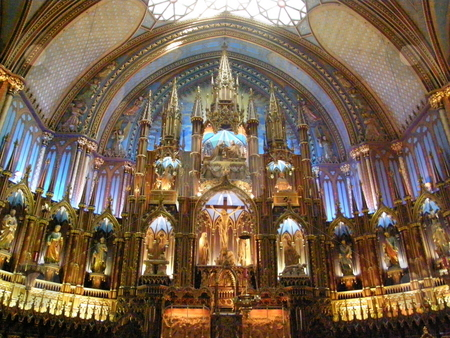 Notre Dame Basilica in Montreal stock photo, Notre Dame Basilica in Montreal, Canada by Ritu Jethani