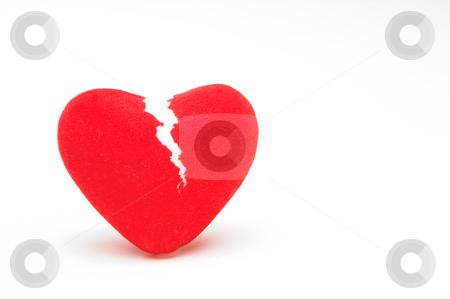 Broken Heart stock photo, A closeup image of a broken heart. by Robert Byron