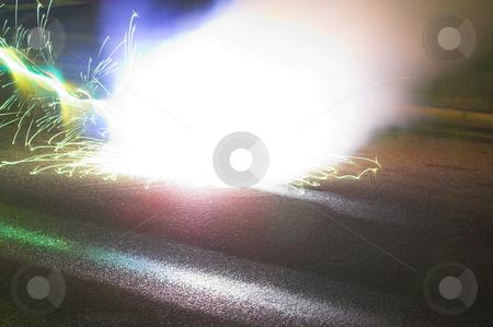 Lightening Strike stock photo, A powerful lightening strike during an electrical storm. by Robert Byron