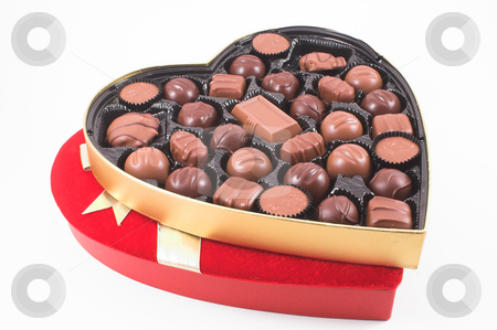 Valentines Candy stock photo, A heart shaped box of chocolate Valentines candy. by Robert Byron
