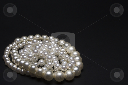 Pearls stock photo, The classic elegance of a string of pearls. by Robert Byron