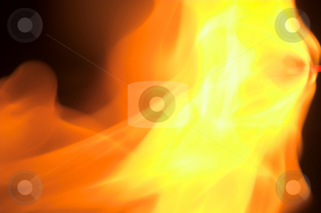 Inferno stock photo, A close up image of a roaring fire. by Robert Byron