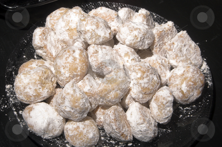 Cookie Balls stock photo, Delicious homemade butter cookie balls with powdered sugar. by Robert Byron