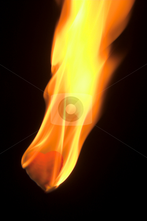 Heart Burn stock photo, A blazing hot red heart on fire. by Robert Byron