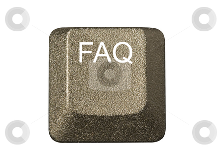 Computer key FAQ stock photo, Computer key in a keyboard with letter, number and symbols by Ivan Montero