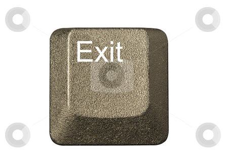 Computer key exit stock photo, Computer key in a keyboard with letter, number and symbols by Ivan Montero