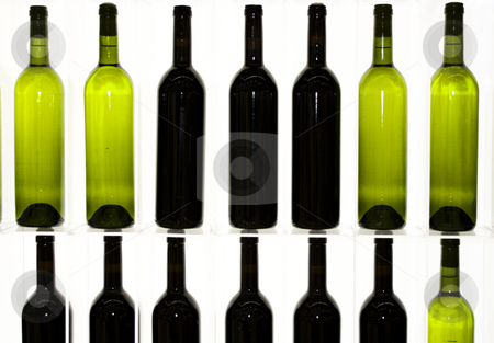 Some bottles of wine stock photo, Some bottles of red wine and withe wine by Ivan Montero