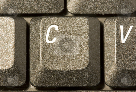 Computer key C stock photo, Computer key in a keyboard with letter, number and symbols by Ivan Montero