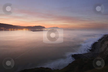 Shore stock photo, Calm image of the rocks in the sea shore by Ivan Montero