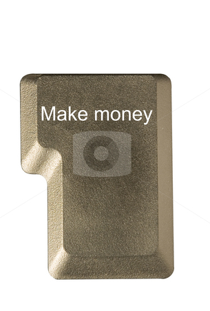 Computer key make money stock photo, Computer key in a keyboard with letter, number and symbols by Ivan Montero