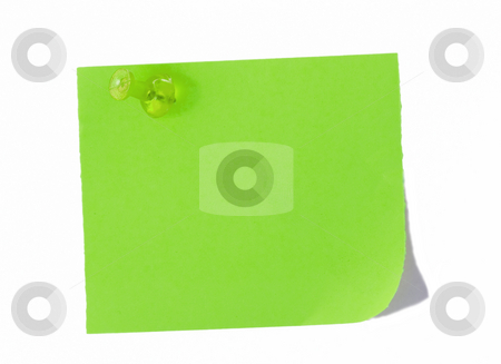 Isolated blank postit paper on white background stock photo, Isolated blank color paper post it or post-it where you can write or edit easily by Ivan Montero