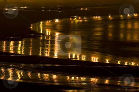 Beach stock photo, Abstract image of a beach and sand at night by Ivan Montero