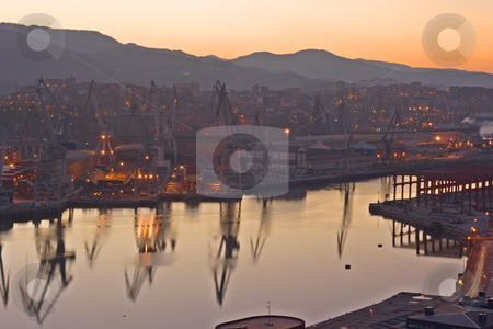 Industry stock photo, Image of the heavy industry by the sea by Ivan Montero