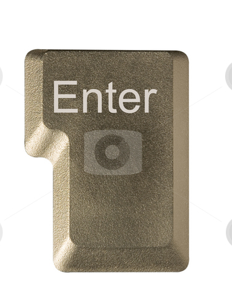 Computer key enter stock photo, Computer key in a keyboard with letter, number and symbols by Ivan Montero