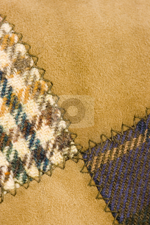 Background tweed wool fashion stock photo, Background of loden wool tweed of a british hat by Ivan Montero