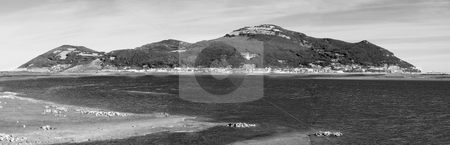 Santona stock photo, Panorama of santona, spain and the entrance of a bay by Ivan Montero