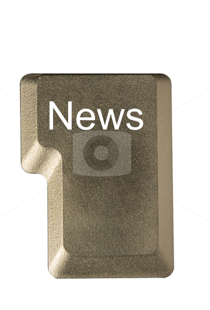 Computer key news stock photo, Computer key in a keyboard with letter, number and symbols by Ivan Montero