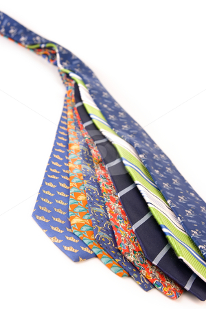 Business men tie work clothes.  stock photo, Business men work clothes. Color fashion neck ties by Ivan Montero