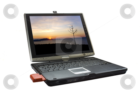 Laptop stock photo, A conceptual image of e commerce by Ivan Montero