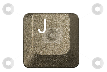 Computer key J stock photo, Computer key in a keyboard with letter, number and symbols by Ivan Montero