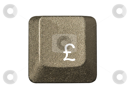Computer key pound currency stock photo, Computer key in a keyboard with letter, number and symbols by Ivan Montero