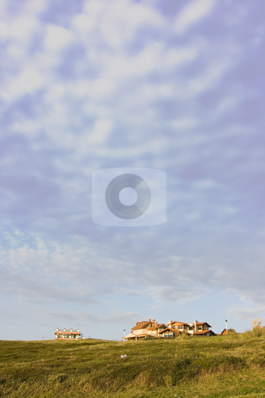 Country House stock photo, Image of a holiday house in the country with a blue sky by Ivan Montero