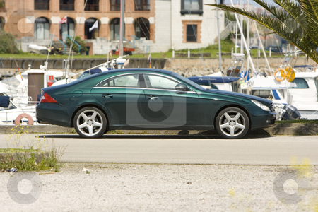Luxury car stock photo, Automobile luxury car berlina isolated on white background by Ivan Montero