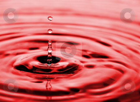 Drops of water flowing relaxing image stock photo, Drops of water flowing relaxing image by Ivan Montero