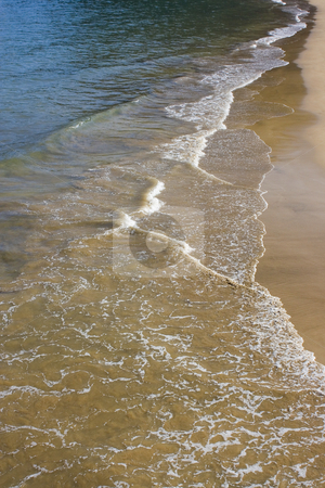 Beach stock photo, Image of the beach with sand, water and waves by Ivan Montero