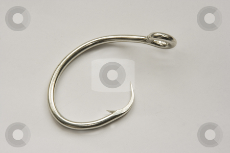 Hook stock photo, Some types of fishing hooks by Ivan Montero
