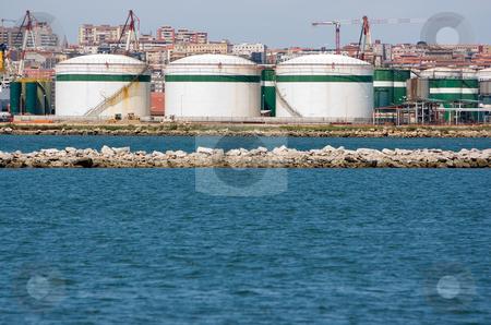 Industry business petrol refinery stock photo, Industry business petrol refinery near the sea by Ivan Montero