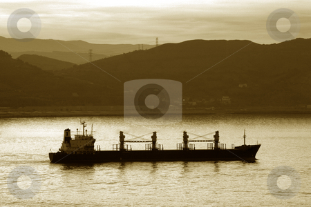 Boat stock photo, Image of a transportation ship leaving the harbour by Ivan Montero