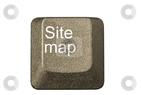 Computer key site map stock photo, Computer key in a keyboard with letter, number and symbols by Ivan Montero