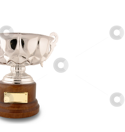 Still trophy success cup stock photo, Still life isolated trophy cup with copy space for edit isolated with clipping paths in withe background by Ivan Montero