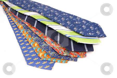 Ties stock photo, Business men work clothes. Color fashion neck ties by Ivan Montero