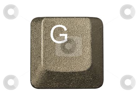 Computer key G stock photo, Computer key in a keyboard with letter, number and symbols by Ivan Montero
