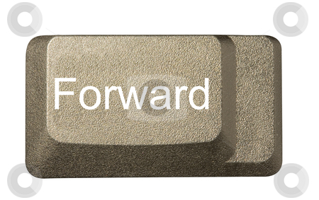Computer key forward stock photo, Computer key in a keyboard with letter, number and symbols by Ivan Montero