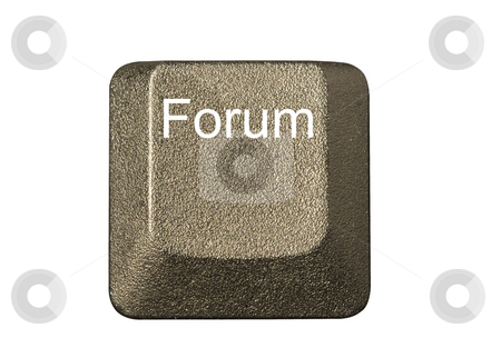 Computer key forum stock photo, Computer key in a keyboard with letter, number and symbols by Ivan Montero