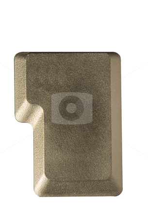 Computer key blank stock photo, Computer key in a keyboard with letter, number and symbols by Ivan Montero